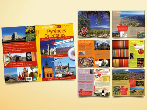 """<span style=""""color: #94ba49;"""">ÉDITIONS CATAPAC </span><br>Guide touristique <br>des Pyrénées-Orientales <br>"""