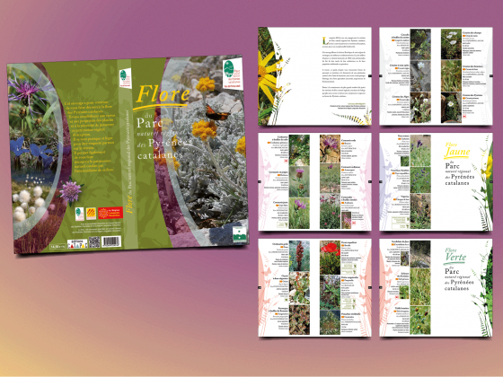 """<span style=""""color: #94ba49;"""">PARC NATUREL RÉGIONAL <br>DES PYRÉNÉES CATALANES </span><br>Livre sur la flore<br>"""