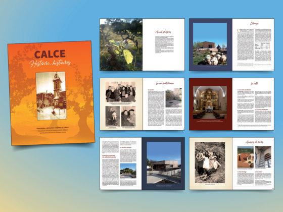 """<span style=""""color: #94ba49;"""">CALCE</span><br>Livre sur l'histoire<br>du village Calce<br>"""