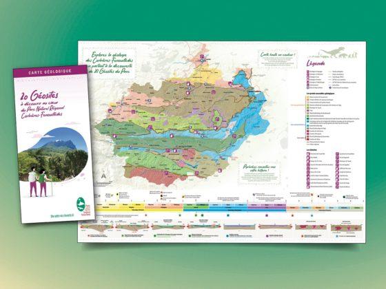 """<span style=""""color: #94ba49;"""">PNR Corbières</span><span style=""""color: #94ba49;"""">-Fenouillèdes</span><br>Carte Géologique<br><br>"""